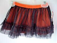 Halloween Tutu Skirt 18 Months Orange With Black Netting Elastic Waistband NEW
