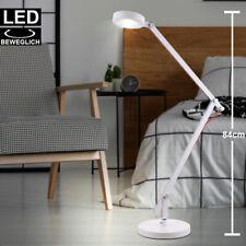 Luxus LED Tisch Leuchte Schlaf Gäste Zimmer Beistell Lampe Spot beweglich weiß