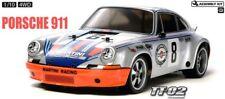 Tamiya 58571 Porsche 911 carrera RSR 4WD TT-02 RC Coche Kit * con * tamiya CES Unidad