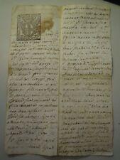 """DOC. DEL 1700 SU CARTA BOLLATA DA """" DUE SOLDI 1741 """" VILLANOVA D'ALBENGA  6-218"""