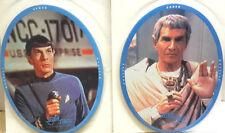 "1996 Star Trek Spock & Sarek 10"" Mousepad Set of 2- Unused- Free S&H (C6084)"