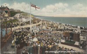 BOURNEMOUTH The Undercliff Drive Animated PPC by FGO Stuart # 1534 Used 1909