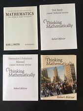 Thinking Mathematically by Robert Blitzer 1999, Student Teacher Bundle USED