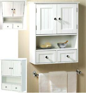 LAKESIDE  BATHROOM WALL CABINET w/ 2 Doors Cabinet 2 Drawers & Shelf ** NIB