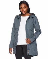 $701 Fjall Raven Womens Blue Kiruna Padded Hooded Zip Parka Coat Jacket Size XL