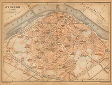 1902 ANTIQUE TOWN PLAN -FRANCE- AVIGNON