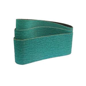 6 Pcs 75*457mm Zirconia Alumina 577F 40/60/80 Sanding Belt Hard Metal Grinding