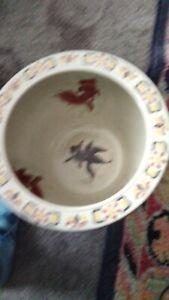 Vintage Chinese Export Porcelain Fish Koi Bowl