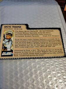 GI Joe Snow Job File Card Arctic Trooper