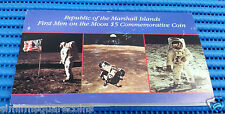 1989 Republic of the Marshall Island First Men on the Moon $5 Commemorative Coin
