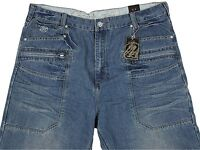 Mccarthy Mens Big Size Jeans Straight Leg Trousers Vintage Colour Sizes 40 to 54