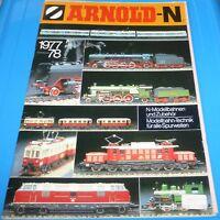 Arnold N 1977 1978 mit Preisliste Neuheiten / Katalog