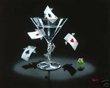 "*Michael Godard-""FLYING ACES""Aircraft-Planes-Blue Angels-Olive-Martini-Fun-Art*G"