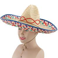 #Sombrero Mexican Straw Hat Fancy Dress