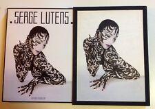 SERGE LUTENS mode LIVRE DEDICACE stylisme photo COFFRET monographie