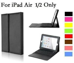 Faux Leather Case Cover with Bluetooth Wireless Keyboard for iPad 5,6 Air 1/2
