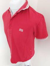Designer Hugo Boss Polo Shirt Red Medium 42 Chest Vgc Modern Fit