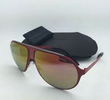 New Sunglasses CARRERA CHAMPION/MT 9EBUW Aviator Matte Red Frame w/Orange Mirror