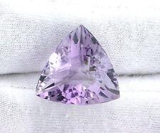 21.07 Ct 21mm Checkerboard Trilliant  Rose De France Amethyst Gemstone Gem Stone
