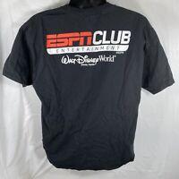 Walt Disney World ESPN Club Orlando Florida Unisex XL Black Graphic T Shirt