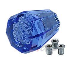 Universal JDM 60mm Diamond Crystal Bubble VIP Style Shifter Shift Knob Blue