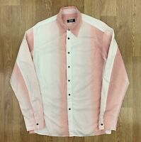 Vintage 90s GIANFRANCO FERRE JEANS Mens Shirt | Made in Italy | Medium M Pink