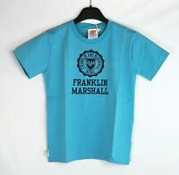 T-Shirt Bambino/a FRANKLIN & MARSHALL Made in Italy Azzurro/Blu H330 Tg 10 anni