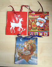 Pack of 3 Medium Size Multi Coloured Christmas Gift Bags ( 3 Different Designs)