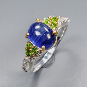jewelry Design Blue Sapphire Ring Silver 925 Sterling  Size 8.5 /APBJ-R0074