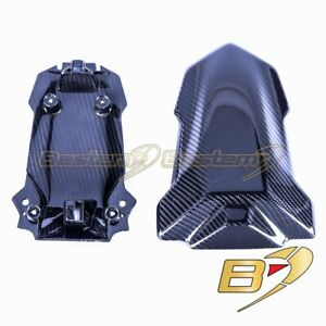 2020+ BMW S1000RR Carbon Fiber Seat Cover Twill Weave Pattern