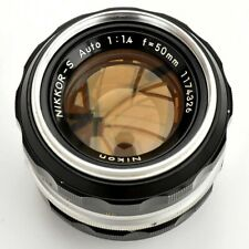 Nikkor S Auto 50mm f/1.4 AI Converted Sp'r Sh'p Lens. Exc+++ Tested. See Images