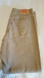 Levis 582 Cords Corduroy Jeans. W38 L32 Light Brown Levi Strauss