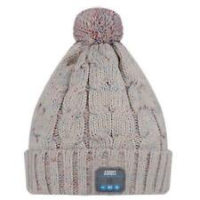 August Epa30 Bluetooth Headphone Cable Knit Hat - Ideal Christmas Gift for Beige