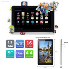 "EF5E 9"" inch Google Android4.4 A33 Quad Core 16GB Dual Camera Tablet EU PC Black"