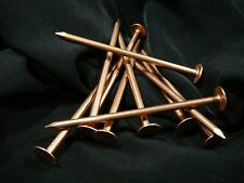 """3"""" Smooth Shank Copper Roofing Nails 11 Gauge Usa Made (Qty 25) Ships Free"""