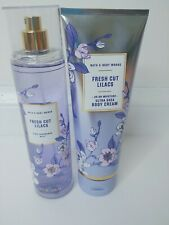 Bath & Body Works Fresh Cut Lilacs Body Cream AND Spray Set New Lrg 8oz