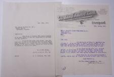 1926 Lamson Goodnow Animal Products Co Limited Liverpool England Ephemera L479E