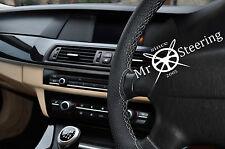 Per FIAT 500l 2012+ Volante in Pelle Perforata Copertura grigia doppia cucitura