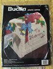 Vintage 1994 Bucilla 6128 Plastic Canvas Mailbox Tissue Box Cover
