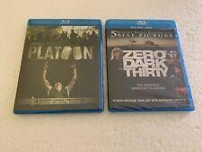 Platoon + Zero Dark Thirty 2 Blu-Ray Lot