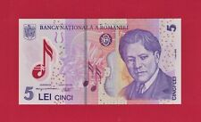 5 Lei 2013 ND (2005 2020) ROMANIA POLYMER UNC NOTE (P-118a.1) REEVALUATION ISSUE