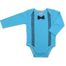 NWT JuDanzy Bow Tie Baby Boys Blue Long Sleeve Kimono Bodysuit 6-9 Months