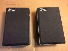 Vintage Pair of Ohm Acoustics Model M Speakers - Good Condition, Blown Tweeters