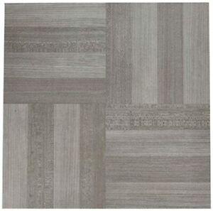 "12x12"" Peel and Stick Vinyl Floor Tile Self Adhesive Square Sticker Grey Wood"