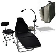 Portable Dental Folding Chair With Doctors Chair Led Exam Lighttray Nylon Bag