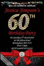 10 x Personalised 60th Birthday Party Invites / Invitations & Envelopes 20901