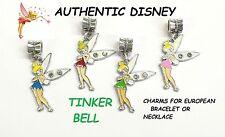 Disney 1 set of 4 Tinker Bell Authentic Charm European Style Bracelets Pendant