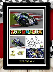 (502) valentino rossi moto gp signed photograph unframed/framed reprint @@@@@