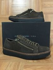 RARE🔥 John Varvatos Star USA Barret Creeper Zip Sneakers Brown Leather Size 8M