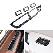 Carbon Fiber M Stripe Door Window Switch Cover For BMW X5 E70 X6 E71 Button Trim